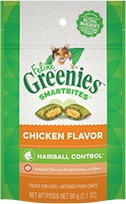 Feline Greenies™ Smartbites™ Hairball Control Treats Chicken Flavor